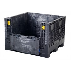 Buckhorn Heavy Duty BN484534 Plastic Collapsible Bulk Container with 2 Drop Doors
