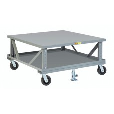 Little Giant 2PDSE42486PH2FL Adjustable Height Mobile Pallet Stand