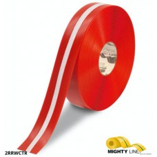 Mighty Line 2RRWCTR Industrial Red-White Striped Safety Floor Tape
