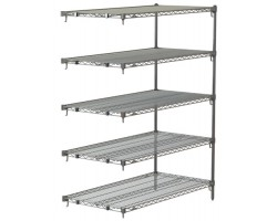 Metroseal 5-Shelf Corrosion Resistant Wire Shelving Unit - 5AA317K3