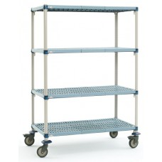 MetroMax Q 4-Shelf Industrial Polymer Mobile Cart - Q356EG3
