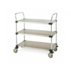 Metro 3-Shelf MW208 Stainless Solid Shelf Utility Cart