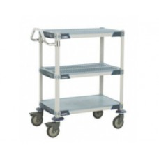 Metro MX1824G3 MetroMax 3-Shelf Open Grid Polymer Utility Cart