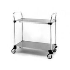 Metro 2-Shelf MW104 Stainless Steel Solid Shelf Utility Cart
