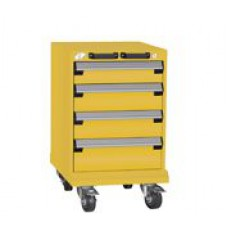 Rousseau Metal L3BBD-2408L3B L-Series 4-Drawer Modular Cart