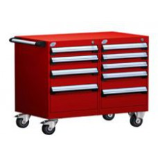 Rousseau Metal L3BED-2401L3B L-Series 9-Drawer Modular Cart