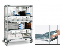 Metro X566BGX3 MetroMax 4-Shelf Open Grid Polymer Cart