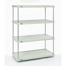 Nexel 4-Shelf Solid Plastic Shelving Unit - 18367ZSP