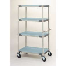 Metro X356EFX3 MetroMax 4-Shelf Solid Grid Polymer Cart
