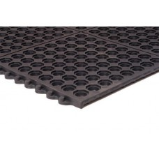 Apache Mills 3x3 Performa Grease Resistant Black Mat