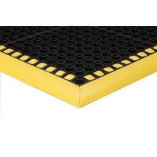 Apache Mills 26x40 Safety Tru-Tread Black-Yellow Mat