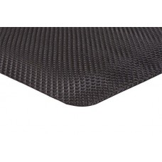 Apache Mills 2x3 Anti-Fatigue Supreme SlipTech Solid Black Mat