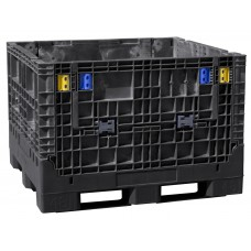 Buckhorn BN484525 Heavy Duty Plastic Collapsible Bulk Container with 2 Drop Doors
