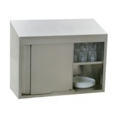 Eagle Group WCS-72 Stainless Steel Wall Cabinet with Sliding Doors
