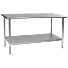 Eagle Group T24132E Spec-Master Stainless Steel Lab Bench with Galvanized Legs and Bottom Shelf