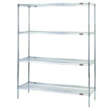 Eagle Group S4-74-1824C Four-Shelf Shelving Unit, Chrome Finish