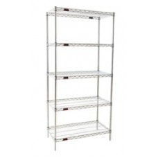 Eagle Group S5-74-1824C Five-Shelf Wire Shelving Unit, Chrome Finish
