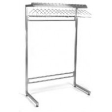 Eagle Group S2448-CGRN Stainless Cantilever Garment Rack for Non Removable Hangers