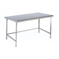 Eagle Group CRT2424T Solid Top Brushed Stainless Steel Cleanroom Table