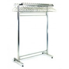 Eagle Group S2448-DGRN Stainless Double Garment Rack for Non Removable Hangers