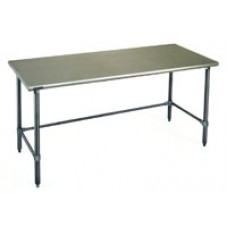 Eagle Group T2430GTEB Stainless Steel Deluxe Bench with Galvanized Tubular Base and Legs