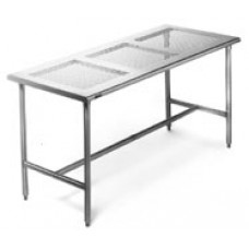 Eagle Group EPCRT2436T Electropolished Stainless Perforated Top Bench