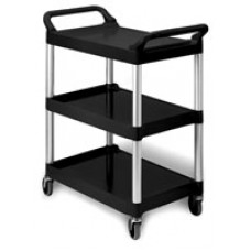 Eagle Group EU3-2030-P Black Polymer Utility Cart