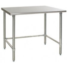Eagle Group T2424STB Budget Stainless Bench with Stainless Tubular Base and Legs