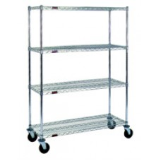 Eagle Group CC1836C-S Cart with 4 Chrome Wire Shelves