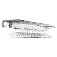 Eagle Group EP2448-WGR Wall Mounted Gowning Rack with Hanger Slots