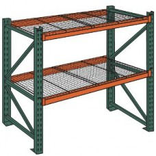Husky IU42x144x120x4062-2SW Pallet Rack Starter Unit with Wire Decking