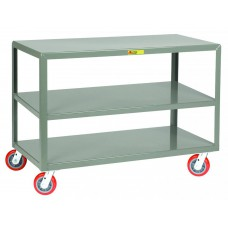 Little Giant 3IP-3048-6PY Mobile 3-Shelf Steel Table