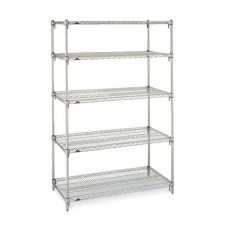 Metro 5N457BR 5-Shelf Brite Wire Shelving Unit