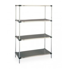 Metro 5-Shelf Solid Galvanized Shelving Unit - 183074FG