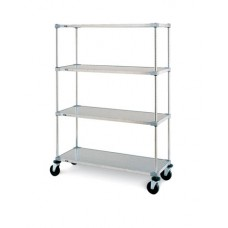 Metro 4-Shelf Metroseal-3 Wire Cart - 213063NK3-R