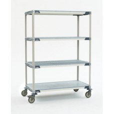 Metro X566EGX3 MetroMax 4-Shelf Open Grid Polymer Cart