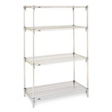 Metro 4-Shelf Stainless Steel Wire Shelving Unit- A183063NS4