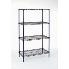 Nexel 21367C 4-Shelf Chrome Wire Shelving