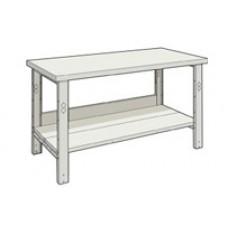 Rousseau WSA3019 Plastic Laminated Top Workbench - Bottom Shelf
