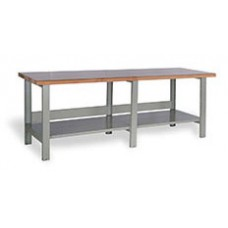 Rousseau WSA3902 Open Double Plastic Laminated Top Workbench
