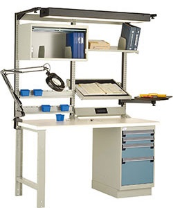 rousseau lc3002c work bench, industrial workbench