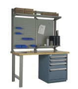 rousseau r5wh5-2003 work bench, industrial workbench, modular drawer work bench