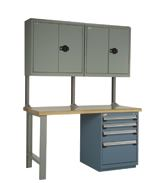 rousseau r5wh5-2005 work bench, industrial workbench, rousseau workstation, quality control workstation