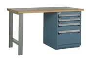 rousseau r5wh5-2007 work bench, tech station, machine shop workbench, modular drawer work bench