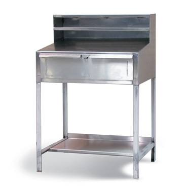 stainless shop desk